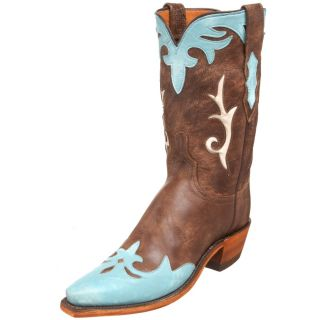 470 1883 by Lucchese Womens N4638 54 Western Boot Brown Turqouise 7