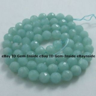 6mm Faceted Round Green ite Gemstone Beads 16