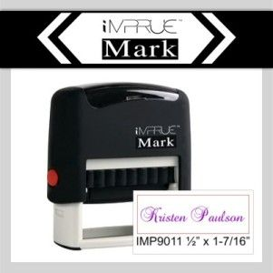 Best Custom 1 Line Name Initial Self Inking Rubber Stamp by Impruemark