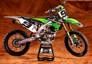 2012 N STYLE HART AND HUNTINGTON DODGE TEAM GRAPHICS KIT KAWASAKI KX