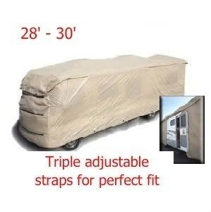 RV Motorhome Travel Trailer Storage Cover. Fit 28 30 Feet Long,122H
