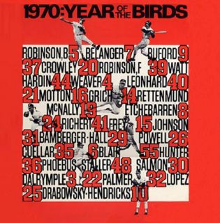 1970 Baltimore Orioles The Year of The Birds CD New