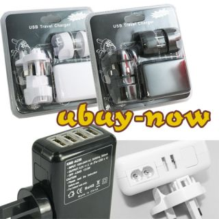 Port USB to AC Wall Charger Adapter Travel Plug For iPhone 4 4S iPad