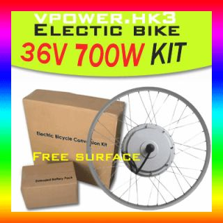 Front 36v 700w 26 Wheel Electric Bicycle Motor Kit E Bike Cycling