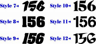 Motorcycle number plate race numbers decals stickers graphics mx atv