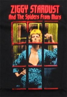 David Bowie   Ziggy Stardust phonebooth t shirt   Official   FAST SHIP