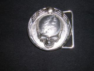 Owsley) Bear Stanley buckle, silver, Grateful Dead, Steal Your Face