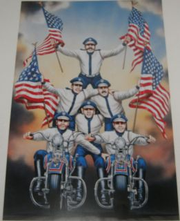 David Mann Art Seattle Cossacks Print Easyriders Harley Davidson HD H