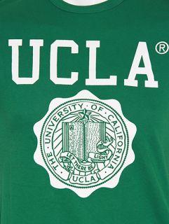UCLA Powell Varsity College Shield Logo Printed T Shirt  Green
