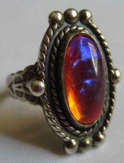 SILVER DRAGONS BREATH RING SIGNED JP J P ART NOUVEAU DECO STAMPED