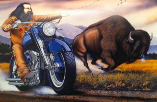 David Mann Art Sturgis Buffalo Easyriders Print Harley Davidson H D HD