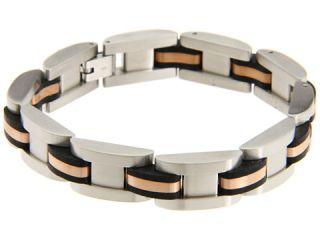 Breil Milano Cave Stainless Steel and Rose Gold IP Bracelet