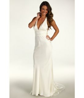 Nicole Miller Double Face Satin Halter Gown