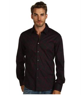 Versace Collection Web Print Stretch Cotton Shirt $175.99 $375.00