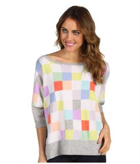 Autumn Cashmere Rectangle Checkerboard Boatneck Top $308.00