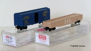 Scale 1 160 Microtrains Pair of Freight Cars Florida East Coast FEC