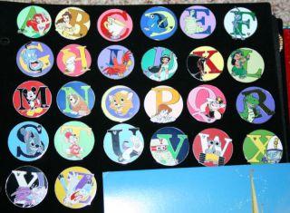 Disney WDW Cast Hidden Mickey Alphabet 26 Pin Set ABC