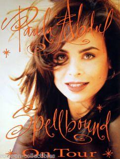 Paula Abdul 1991 Spellbound Tour Poster