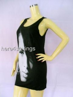 AALIYAH Black Tank Top, Urban R&B Soul T Shirt SINGLET Hip Hop STAR