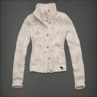 Abercrombie Fitch Women Cable Knit Cardigan Sweater Top Stacy