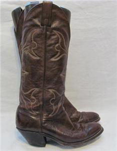 Vintage Abilene Deerskin Western Cowboy Boot Women Sz 7