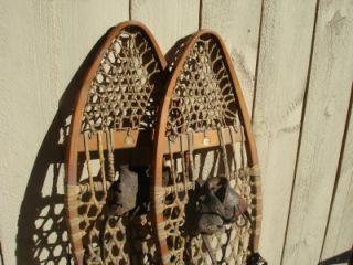 RARE Antique Vintage A G Spalding Snowshoes 40 1 2 x 11 Snow Shoe