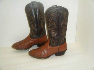 Mens Larry Mahan Two Tone Cowboy Boots Sz 9XE 10045