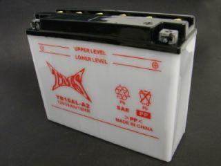 Battery YB16AL A2 YB16ALA2 for Yamaha VMAX Virago XV VMX 700 750 120 w