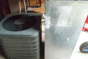 Ton Goodman AC Unit Air Handler 5kw Heat Kit Ductwork R22 Split