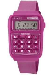 Timex Watch 2N238 Calculator Multifunction Grey Digital Dial Pink