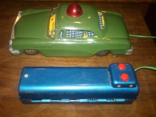 Vintage Marx Toy Company Tin Car Battery Operated Works