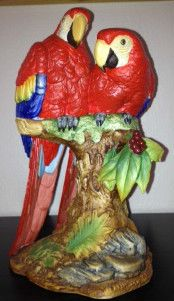 Vintage Double Scarlet Macaws by Andrea Sadek 1987