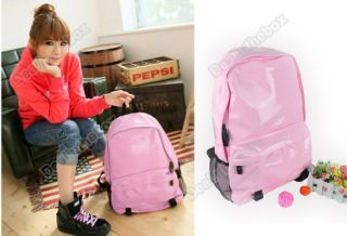 New Cute Girl Patent Leather Backpack Bookbag Purse School Book Bag 2