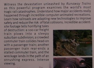 Runaway Trains Rail Accidents Railway Train Railroad VHS