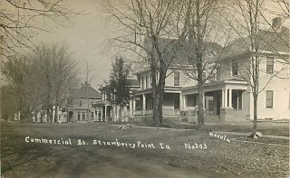 1914 Real Photo Postcard   Strawberry Point, Iowa