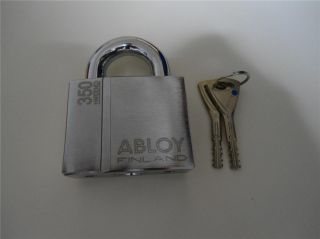 New Abloy High Security Steel Padlock PL350 25N