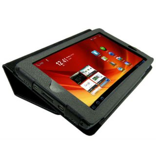 Leather Case Flip Stand Cover for Acer Iconia Tab A100 Black