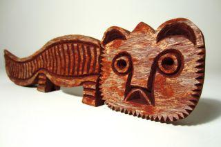Century Modern Redwood CAT Art Sculpture 1960s Evelyn Ackerman era
