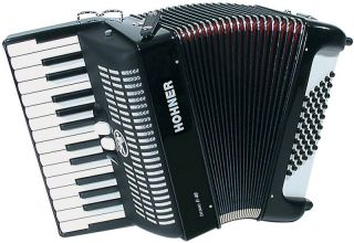 Hohner Bravo II Piano Accordion 26x48 Case BR48B Germany Black
