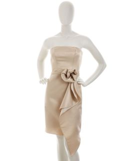 ABS by Allen Schwartz Strapless Bustier Dress Champagne
