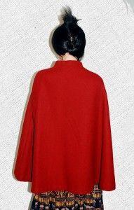 Vtg 1960s Jerolds Retro Mod Wool Cape Cloak Coat Jacket from