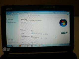 Acer Aspire One Netbook Laptop Blue Computer 2 GB RAM 160 GB HD