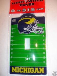 Michigan Wolverine Light Switch Plate Cover Acrylic New