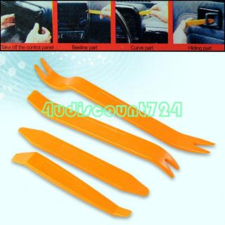 4pcs Anti Scratch Auto Car Panel Audio Radio Removal Installation