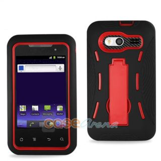 Huawei Activa 4G M920 Case Black Purple Hard Cover Silicone Case Kick