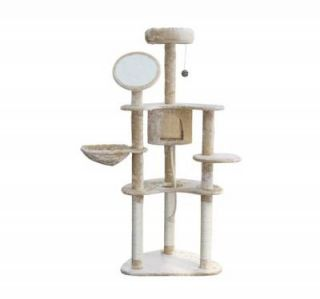 Pawhut 60 Cat Tree Kitten Condo Furniture Scratch Post Pet House