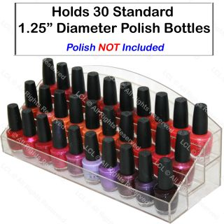 Acrylic Nail Polish Display Rack Holds 30 Stand Table Beauty Salon
