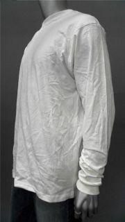 Champs Sports Mens Cotton Basic T Shirt Sz L White Long Sleeve Solid