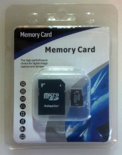 SD SDHC MicroSD Memory Card with Case, Adapter, and Factory Packaging