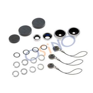 New 4 in 1 Wide Macro 180° Fish Eye 2X Lens Kit SE for iPhone 3 4G 4S